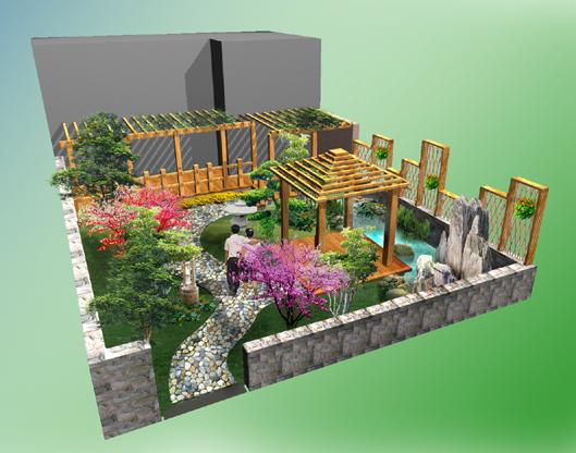 网站首页 案例展示 别墅庭院园林景观设计 > 正文